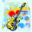 Royalty-Free Stock Imagen vectorial: Abstract Guitar