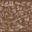 Hand drawn set : kitchen - food — Stock Vector #6653521