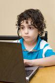 Child Using Laptop — Stock Photo