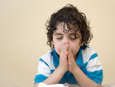 Boy Praying — Fotografia Stock