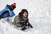 Untold Fun In the Snow — Stock Photo
