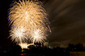 Fireworks in a City — Stockfoto