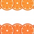 Slice grapefruit border - Stock Photo