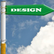Design cigarette road sign - Stock Photo