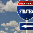 Strategy road sign — Stock Photo