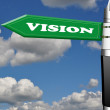 Vision fountain pen road sign - Stock Photo