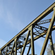 Close-up railway bridge - Stock Photo