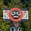 Totem shaped in Stanley park, BC Canada — Stock Photo #5463552