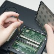Stock Photo: Fixing computer problem