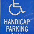 Stock Photo: Isolated handcap parking only