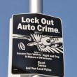 Lock out prevent auto crime — Stock Photo