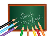 Back to school poster — Stock Photo