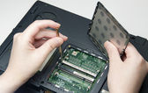 Fixing computer problem — Stock Photo