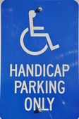 Isolated handcap parking only — Stock Photo
