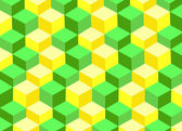 Abstract 3d square background — Stock Photo