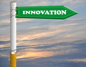 Innovation cigarette road sign — Stock Photo