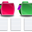 Abstract colorful folders, tags and paper — Stock Photo