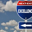 Stock Photo: Excellence road sign