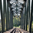 macro railroad bridge — Stock Photo