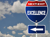 Excellence road sign — Stock Photo