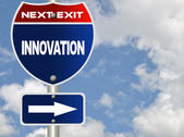 Innovation road sign — Stock Photo
