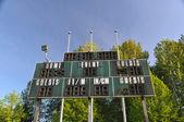 Tabla de puntuaciones en el estadio de fútbol — Foto de Stock