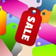 Stock Photo: Colorful design sale tags background