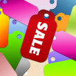 Colorful design sale tags background — Stock Photo