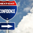 Confidence road sign — Stock Photo