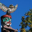 Totem shaped in Stanley park — Stock Photo #6504219