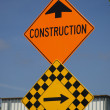 Construction road sign - Stock Photo