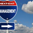 Management road sign - Stock Photo