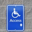 Disable access sign on wall — Stok Fotoğraf #6511466
