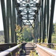 Macro railroad bridge — Stock fotografie