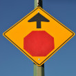 Remind ahead stop sign — Stock Photo #6511612