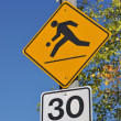 Stock Photo: 30km limit road sign