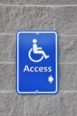 Disable access sign on wall — Stock Photo