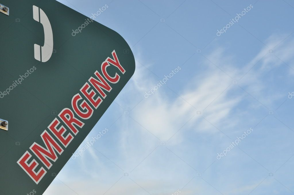 Emergency phone call sign — Stock Photo #6511430