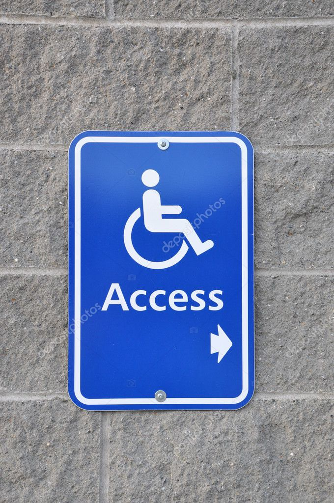 Disable access sign on wall   Stock Photo #6511466