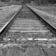 Stock Photo: Macro railroad track