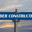 Under construction  croad sign - Stock Photo