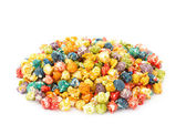 Caramel colorful popcorn — Stock Photo