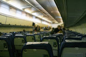 Inside of airplane — Stock Photo