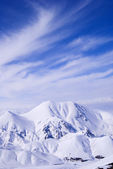 View from mountain Ejder. Vertical — Stock Photo
