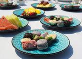 Delicious multicoloured cakes — Stock Photo