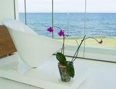 Modern interior in white colore — Stock Photo