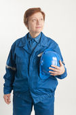 Engineer woman — Stockfoto