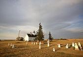 Cemetery grave stones at Saint Mary's Orthodox Church — Stockfoto