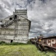 Stock Photo: Prairie Grain Elevator