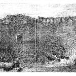 Verona Arena in 1890, in Verona, Italy. Vintage engraving. — Stock Vector